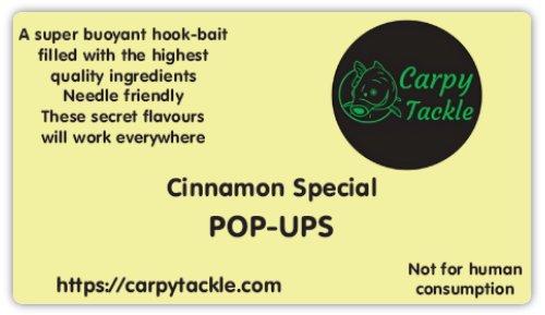 Cinnamon Specials White Custom 14mm Pop Ups Available Soon!