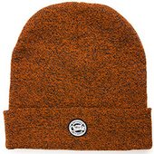 Fox Chunk Beanie Hat Orange/Black Marl