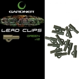 Gardner Tackle Covert Lead Clips Green or Brown