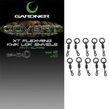 Gardner Tackle Covert XT Flexi-Ring Kwik Lok Swivels Size 12
