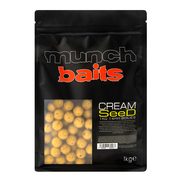 Munch Baits Cream Seed Boilies Various Sizes