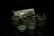 Ridgemonkey Modular Hookbait Pots Green (4) with Case