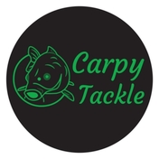 Carpy Tackle Bucket Sticker 76 x 76 mm Circle Sticker - Glossy Finish