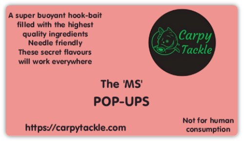 The 'MS' Pink Custom 14mm Pop Ups Available Soon!